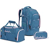Satch Pack Deep Rose Schulrucksack Set 3tlg.