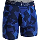 "2UNDR Men's Swing Shift 6"" Boxer Brief Underwear Limited Edition Colors"