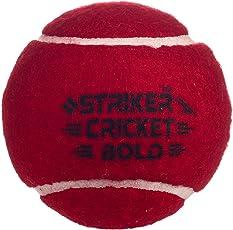 Striker Cricket Tennis Ball Red (Pack of 4)