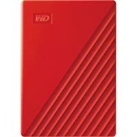 Western Digital WD 2TB My Passport Portable External Hard Drive, Red - with Automatic Backup, 256Bit AES Hardware…