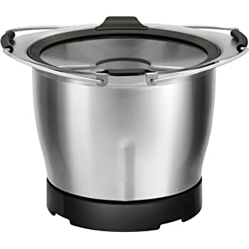 Moulinex Mini Bol de Cuisson XF38AE10 Accessoire Companion Officiel Capacité 1,4L Bain-Marie Cuve Lame Hacher Compatible avec Tous les Robots Cuisine Companion