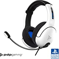 PDP Cuffie con Cavo LVL50 per Sony Playstation 4 & 5, Wired, Bianco