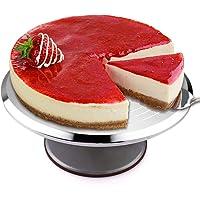 Présentoir à Gâteau, Mbuynow 12 Pouces Plateau Tournant Antidérapant pour Gâteau Pâtisserie en Aluminium Inox Support…