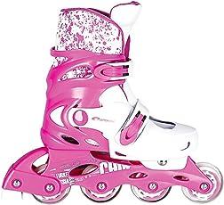 Spokey Splash Größenverstellbare Inline Skates Kinder/Damen | Rollerskates | Inliner | Blades | Softboot