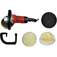 Inditrust Combo of Electric Car Polisher Machine with 1 Backing pad and 1 Wool Buffing Pad Double Insulated with Speed Control