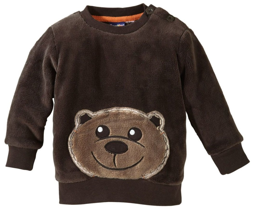 lupilu Pullover Baby Babyteddypullover - Kuschelig - Bär - 74/80 - Braun