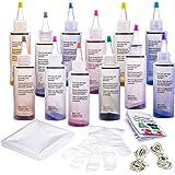 Tie-Dye Kit 12 Farbe Teilig Tie-Dye-Kit,Stoff Textil Farben Tie Dye Kit DIY Kleidung Graffiti Dye für DIY-Projekte und Partyaktivitäten