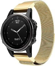 99native Für Garmin Fenix 5S / 5S Plus Magnetischer Milan Uhrenarmband, Edelstahl Breite 20mm Länge ca. 245mm
