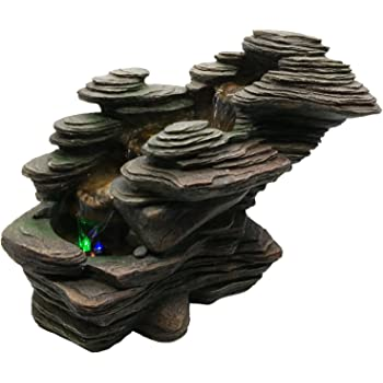 Zen Light SCFR132 River Water Feature Nature Brown Stone 38 x 19 x 25 cm