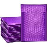 Switory Lot de 50 enveloppes matelassées #000 avec doublure à bulles auto-adhésive Violet 10,2 x 17,7 cm