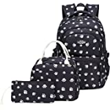 Goldwheat Water Resistant Backpack for Girls School Bag Kids Bookbag Lunch Box