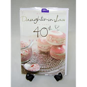 Hallmark Daughter In Law 40th Birthday Card