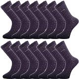 Paquete de 14 pares de calcetines de algodón de lujo transpirables e inteligentes para hombres - Calcetines respetuosos con e
