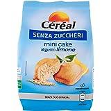 Céréal Mini Cake SENZA ZUCCHERI al limone, merendine dolci senza zucchero - 200 g