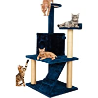 Callas Large Cat Tree Tree with Sisal Scratching Posts, Dangling Balls, Stairs and 1 Big house   Cat Tower Furniture…