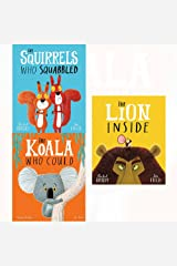 Rachel bright collection squirrels who squabbled, lion inside, koala who could 3 books set Paperback
