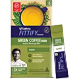 Saffola FITTIFY Gourmet Green Coffee Instant Beverage Mix for Weight Management - 30g (Classic, 15 Sachets)
