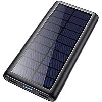 Feob Solar Powerbank 26800mAh, Solarladegerät 【Energiesparende Version】 Externer Akku Hohe Kapazitat Power Bank Fast…