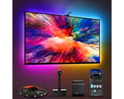 Govee Immersion WiFi TV LED Backlights with Camera, Smart RGBIC Ambient TV Light for 55-65 inch TVs PC, Works with Alexa & Go