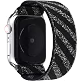 Stretchable Solo Loop Compatible for Apple Watch Band Series 6/SE 44mm,Series 5/4 44mm,Series 3/2/1 42mm,Sports Strap for iwa