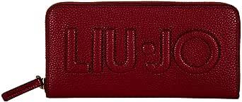 Liu Jo Borsellino Donna - Cerniera Intorno XL, Borsellino, Logo, Pelle PU, 10x19x2,5cm(Hxbxt)