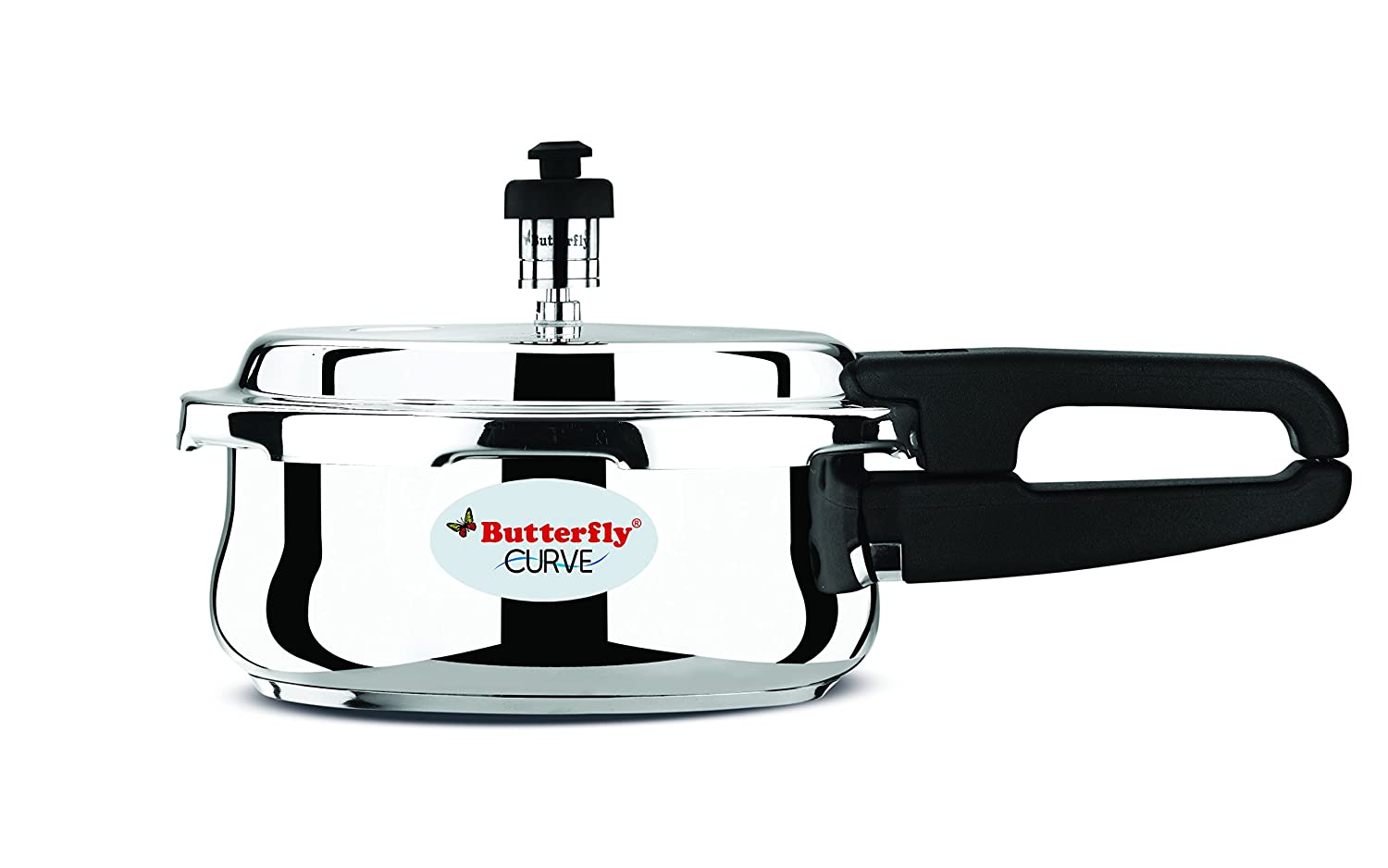 Butterfly Kitchen Appliances Butterfly Blue Line Stainless Steel Pressure Cooker 3 Litre