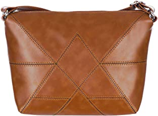Leather Land Women Casual Tan Leatherette Sling Bag