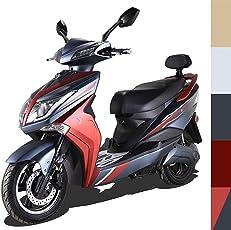 """Elektroroller Hawk 3000"""", 45 km/h, 3 mögliche Farben, Betriebskosten von ca. 85 Cent pro 100 Kilometer, steuerfrei, E Scooter, Garantie, kostenlose Probezeit, Rot/Schwarz"""