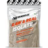 Bigmuscles Nutrition Raw & Real Isolate Organic Whey Protein [1Kg] | Natural 90% Isolate Whey Protein | Additives Free | Unfl