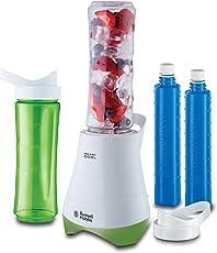 Russell Hobbs 21350-56 Standmixer Mix & Go/Smoothie Maker mit 0,4 PS Power-Motor (300 Watt, bis zu 24.000 U/min), zwei BPA-freie Trinkflaschen inkl, Edelstahlmessereinheit