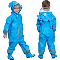 FILOWA Impermeabile con Cappuccio Bambini Pioggia Impermeabile Antipioggia Tuta Portatile Ragazza Ragazzo Animale…