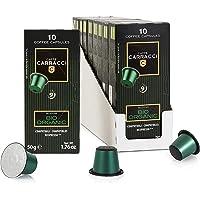 Caffè Carracci Capsule Compatibili Nespresso, Bio Organic, 10 Astucci da 10 Capsule (Totale 100 Capsule)