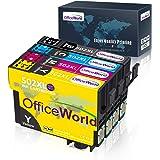 OFFICEWORLD 502XL Cartucce d'inchiostro Sostituzione per Epson 502 XL Multipack per Epson Workforce WF-2860 WF-2860DWF WF2860 WF-2865 WF-2865DWF WF2865 Expression Home XP-5100 XP5100 XP-5105 XP5105