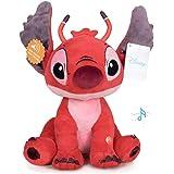 """STITCH Lilo&Stitch - Peluches Leroy Rouge avec Son 11'41""""/29cm Qualité Super Soft"""