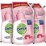 Dettol Liquid Handwash Refill - Skincare Moisturizing Hand Wash (Pack of 3 - 750ml each) | Antibacterial Formula | 10x Better