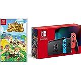 Nintendo Switch (Neon Red/Neon Blue) + Animal Crossing New Horizons - Nintendo Switch Standard Edition