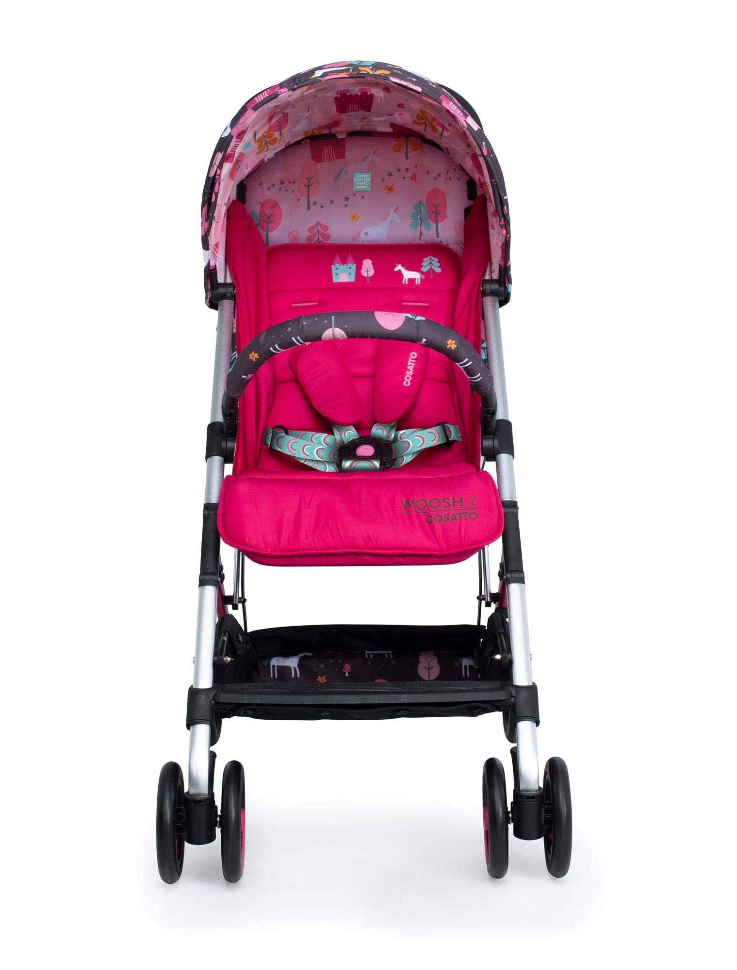 Cosatto CT4224 Woosh 2 Unicorn Land 7.2 kg Cosatto Suitable from birth to max weight of 25kg, lets your toddler use it for even longer Lightweight, sturdy aluminium frame New-born recline 5