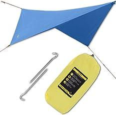 Golden Eagle RAINTARP Basic Regendach Zeltplane Tarp 320x300 cm für Hängematten, Zelte. Leicht, Einfaches Aufstellen, Beständiges Polyester 190T, ERSTKLASSIGE QUALITÄT.