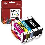 Tong Kingdom 903XL Puce Mise à Jour Compatible avec HP 903XL 903 XL Cartouche d'encre pour HP Officejet Pro 6950 6960 6970 Al