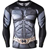 Nessfit Mens Compression Superhero Long Sleeve Top Base Layer Gym Long Running Shirt Thermal Workout Fitness Undershirt