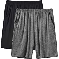JINSHI Men's Lounge Shorts Nightwear Ultra Soft Comfy Modal Pyjama Bottoms