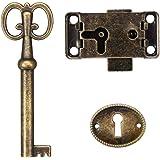 Unbekannt kast deur slot set sleutel antieke sieraden make-up case meubels deur lade slot