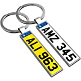 Personalised keyring keychain key chain your car number plate your text
