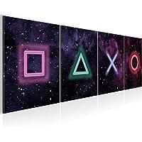 Runa Art Bilder Spielkonsole - 160 x 50 cm - Bilder für Gamers Game Wandbild Gaming Vlies Leinwandbild - XXL Wandbilder…