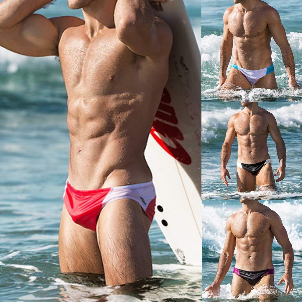 0634d3f15679 Zolimx Block Swim Shorts,Costumi da Bagno Uomo Slip,Uomo Costume da Bagno  Elastico Boxershorts con Taschino E Coulisse Pantaloncini da Surf Uomo