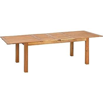greemotion Table de jardin extensible Borkum - Table de jardin avec  rallonges papillon – Table extérieur ae35eec61d39