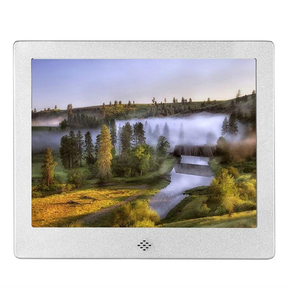 Digital Photo Frame da 8 pollici ad alta risoluzione Slim bordo stretto HD Metal Digital Cornici Vid
