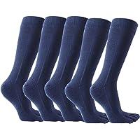 OKSakady 5 paia di calzini scaldamuscoli in cotone da uomo Calzini da uomo a cinque dita caldi invernali