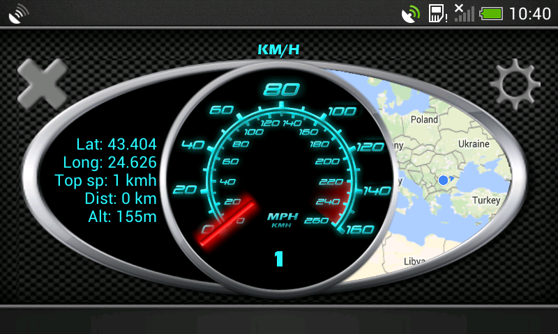 200 Kph To Mph >> Gps Speedometer In Kph And Mph