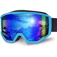 Karvipark Skibrille, Ski Snowboard Brille Brillenträger Schibrille Verspiegelt, Doppel-Objektiv OTG UV-Schutz Anti Fog…